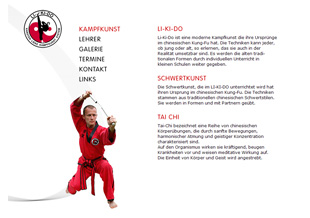 kampfsport, kungfu, log design, programmierung, lightbox